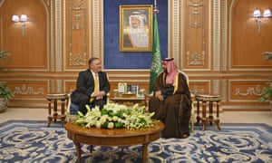 Mike Pompeo and Crown Prince Mohammed bin Salman.
