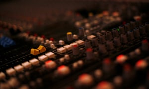 At the mixing deck.