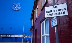 Football will not be prohibited inside Goodison on 21 June, when Everton will host Liverpool.