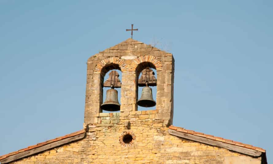 200 Banyoles residents banged pots and pans to protest their local church's bells being stopped at night to appease tourists.