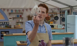A bonus ray of sunshine … Andrew brings charm, joy and engineering prowess to the Bake Off party.