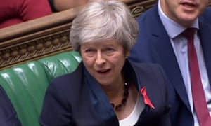 Flagrant disrespect … Theresa May in the House of Commons.