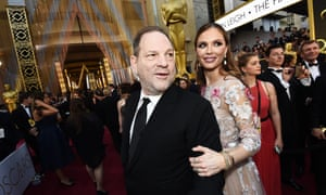 Harvey Weinstein with his wife, Georgina Chapman, at the 2016 Oscars.