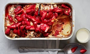 The best way to use up stale slices: Claire Ptak's strawberry bread pudding.