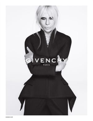 Donatella Versace in the Givenchy 2015 ad campaign.