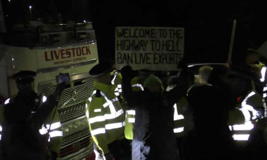 Protesters in Ramsgate
