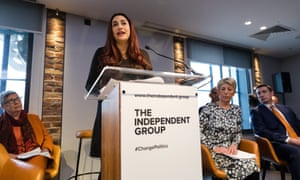 Luciana Berger MP speaking at the Independent Group launch in February