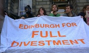 Fossil Free Edinburgh student demonstration