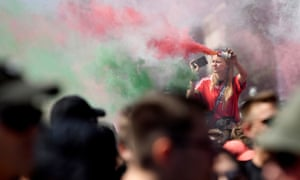 Fans gather for Hungary v Portugal in Budapest.