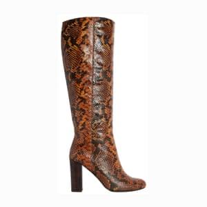 Snakeprint boots, £190, dune.co.uk.