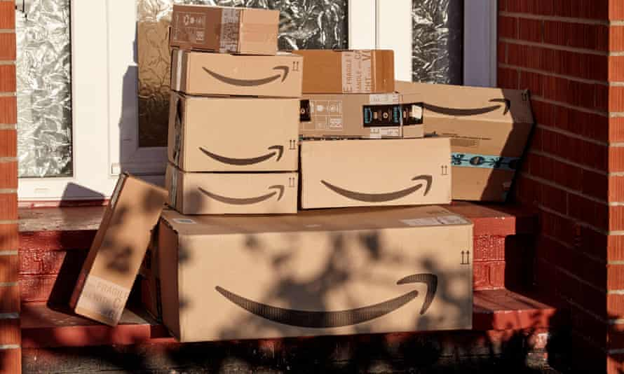 Large consignment of Amazon deliveries left on doorstep