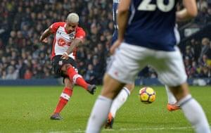 Southampton's Mario Lemina scores from distance.
