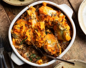 'This is a recipe that will work for all comers': lentil and potato pie.