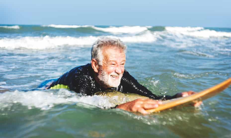 Man on a surfboard