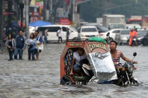 A flooded street after a downpour in Manila, the Philippines