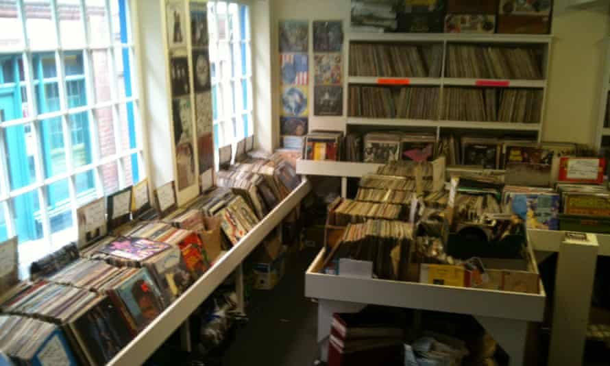 Interior image of racks of vinyl at Rob's Records, Nottingham