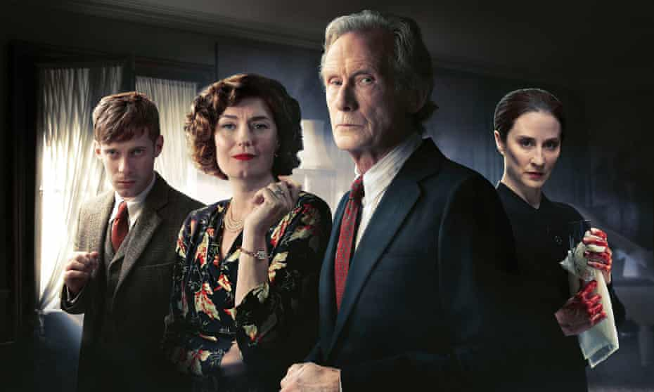 Luke Treadaway, Anna Chancellor, Bill Nighy and Morven Christie in Ordeal By Innocence.