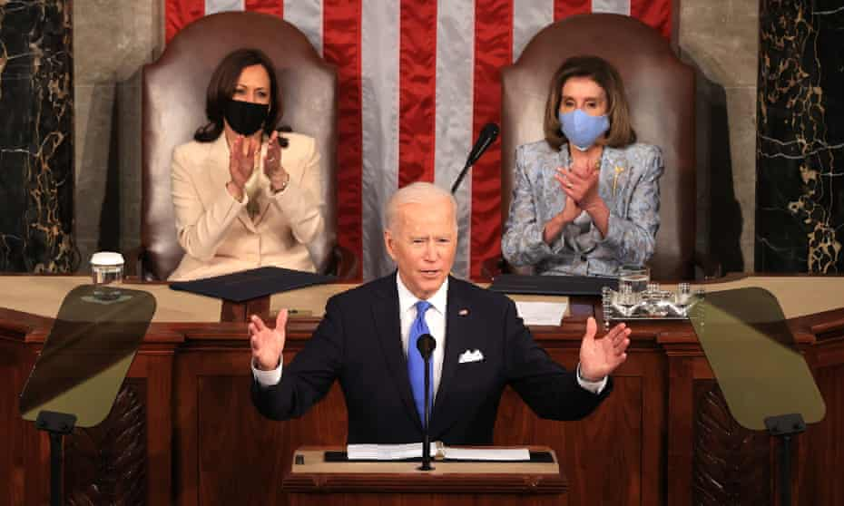 'Trickle down has never worked,' Joe Biden tells a joint session of Congress.