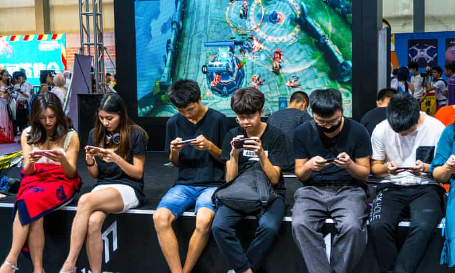 Gamers at the Shenzen Game Fair in 2017.