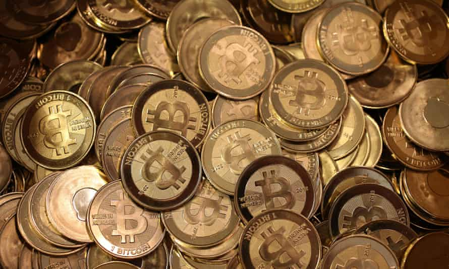Bitcoin slugs sit in a box ready to be minted