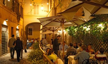 A cafe in Trastevere.