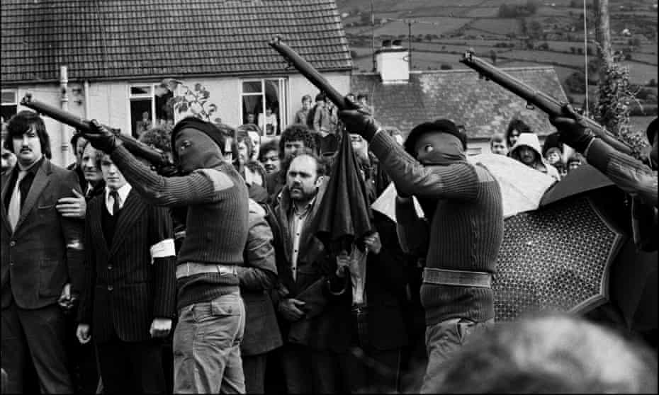 The funeral of an IRA hunger striker in 1981.