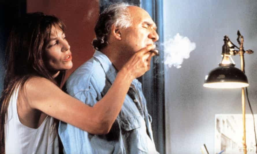 Jane Birkin and Michel Piccoli in La Belle Noiseuse (1991).