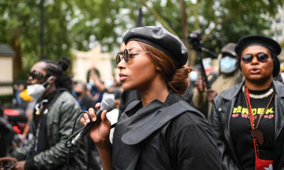 Black Lives Matter protesters walk the streets of London during the Million People March on 30 August