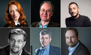 The shortlisted Baillie Gifford prize authors: top row; Hannah Fry, Ben Macintyre and Thomas Page McBee, bottom row, Serhii Plokhy, Carl Zimmer and Stephen R Platt