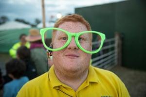 Tiswas glasses at Glastonbury