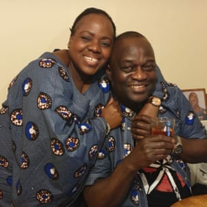 Belly Mujinga, left, with her husband, Lusamba Katalay.