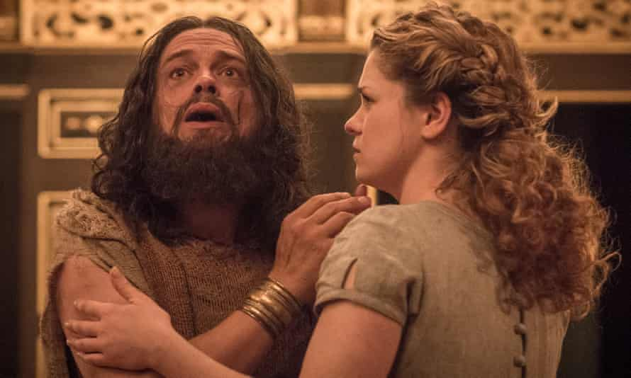 Suffering stoically … James Garnon as Pericles with Jessica Baglow as Marina.