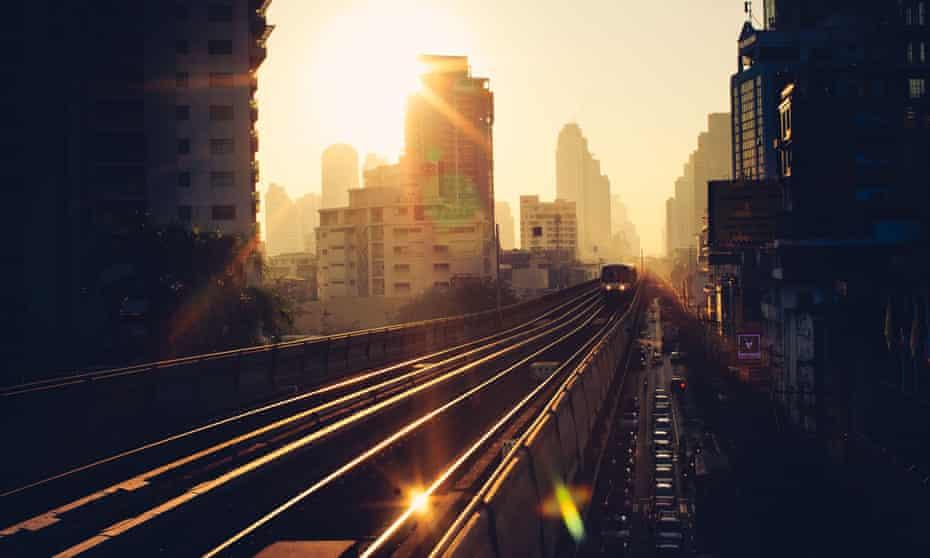 The Skytrain in Bangkok