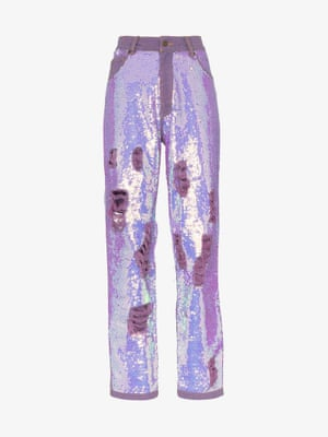 Distressed sequin jeans, £1,405, by Ashish x Browns