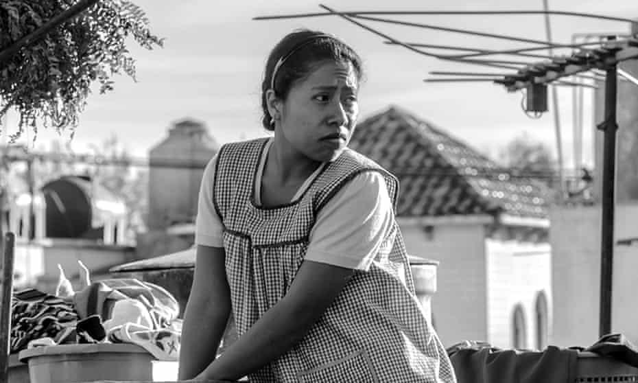 Yalitza Aparicio as Cleo in Alfonso Cuarón's Roma.