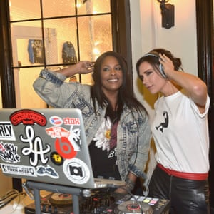 DJ Spinderella and Beckham at the launch