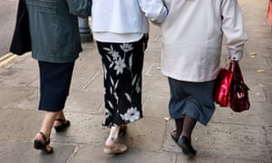 Pensioners walking together