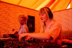 Kate Hutchinson plays at Beat Hotel with Hannah Ellis-Petersen looking/dancing on