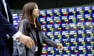 The Japanese economy contracted in the third quarter, marking an official recession.