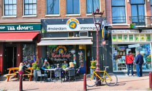 Coffee shops in central Amsterdam.