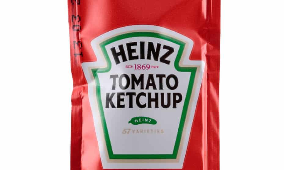 Sachet of Heinz Tomato Ketchup