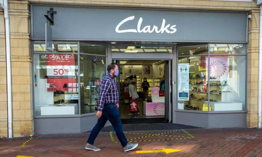 Clarks shoe shop in Caerphilly, Wales