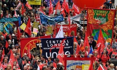 TUC rally in London