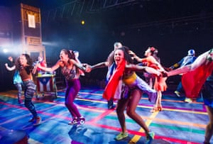 A scene from In The Heights by Lin-Manuel Miranda at King's Cross theatre.