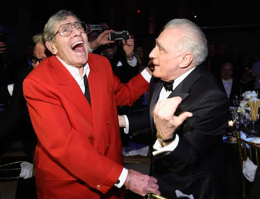 'He was a true professional' … Martin Scorsese, right, with Jerry Lewis in New York, 2016.