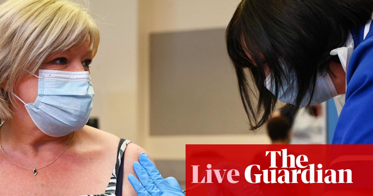 Coronavirus live: global deaths pass 5m; UK care home workers refusing jab told to 'get another job'