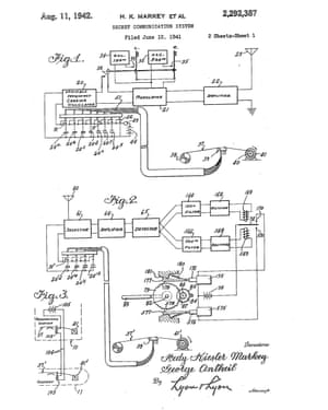 Lamarr's patent, filed in 1941