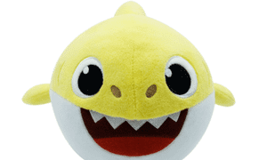 A Baby Shark moving plush toy.