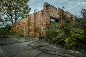 Site of the former Marhoefer Meat Packing Co. plant, Granville Street, Muncie, Indiana. Muncie, Indiana. Photograph by David Levene 5/10/16