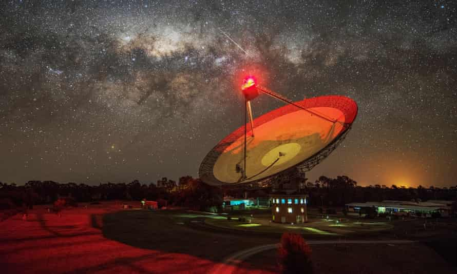 The Parkes telescope in New South Wales, Australia, that picked up the radio waves in April and May last year.